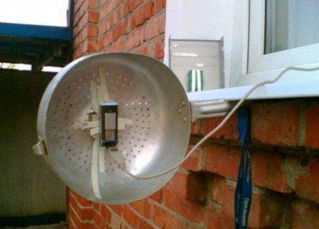 усиление сигнала Yota с помощью дуршлага (фото)